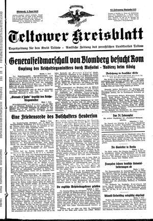 Teltower Kreisblatt vom 02.06.1937