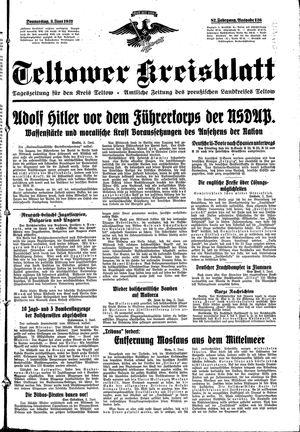 Teltower Kreisblatt vom 03.06.1937