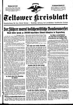 Teltower Kreisblatt vom 07.06.1937