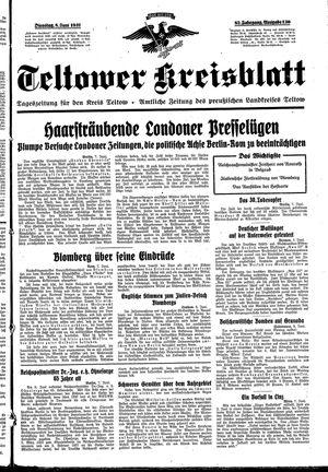Teltower Kreisblatt vom 08.06.1937