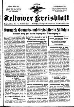 Teltower Kreisblatt on Jun 14, 1937