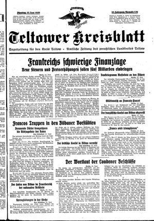 Teltower Kreisblatt vom 15.06.1937