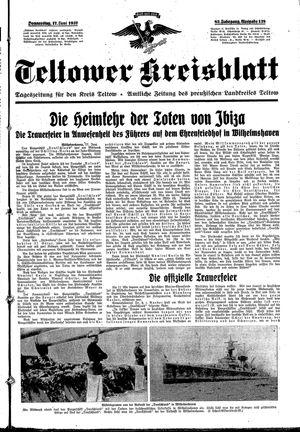 Teltower Kreisblatt vom 17.06.1937