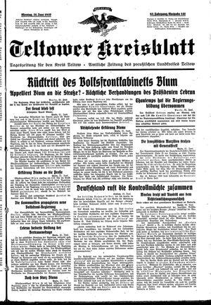 Teltower Kreisblatt on Jun 21, 1937