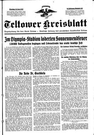 Teltower Kreisblatt vom 22.06.1937