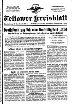 Teltower Kreisblatt vom 24.06.1937