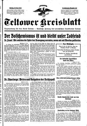 Teltower Kreisblatt vom 25.06.1937