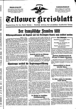 Teltower Kreisblatt vom 30.06.1937