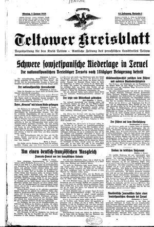 Teltower Kreisblatt vom 03.01.1938