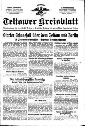 Teltower Kreisblatt vom 04.01.1938