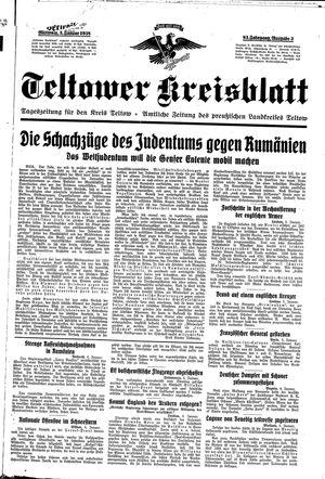 Teltower Kreisblatt vom 05.01.1938