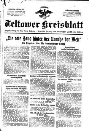 Teltower Kreisblatt vom 06.01.1938