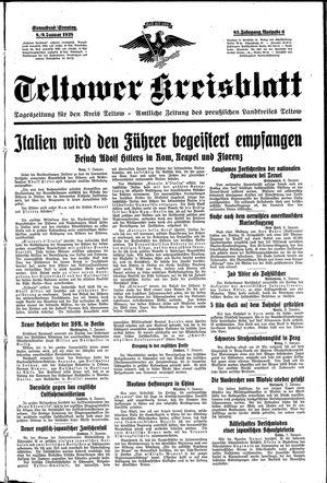 Teltower Kreisblatt vom 08.01.1938