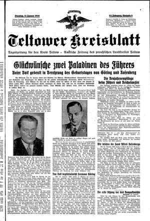 Teltower Kreisblatt on Jan 11, 1938