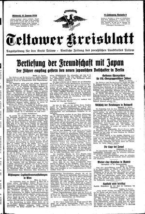 Teltower Kreisblatt vom 12.01.1938
