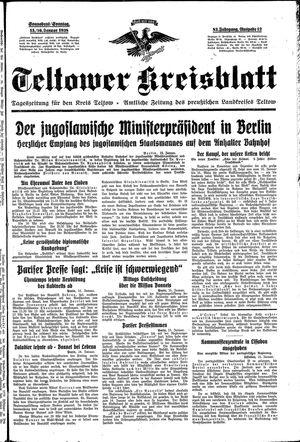 Teltower Kreisblatt vom 15.01.1938
