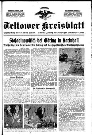Teltower Kreisblatt vom 17.01.1938