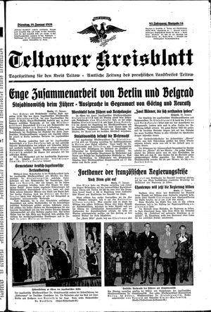 Teltower Kreisblatt vom 18.01.1938