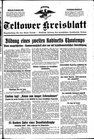 Teltower Kreisblatt vom 19.01.1938