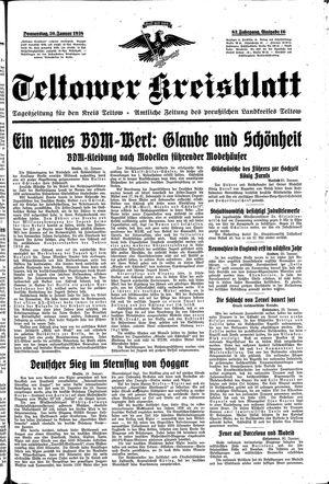 Teltower Kreisblatt vom 20.01.1938