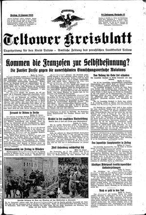 Teltower Kreisblatt vom 21.01.1938