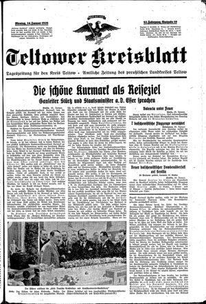 Teltower Kreisblatt vom 24.01.1938