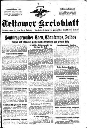 Teltower Kreisblatt vom 25.01.1938