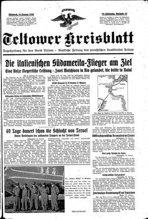 Teltower Kreisblatt vom 26.01.1938