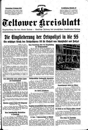 Teltower Kreisblatt vom 27.01.1938
