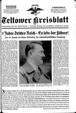 Teltower Kreisblatt vom 29.01.1938