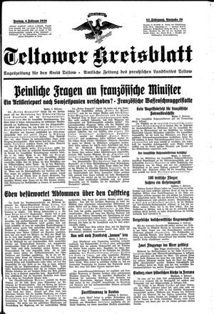 Teltower Kreisblatt vom 04.02.1938