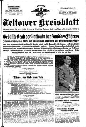 Teltower Kreisblatt vom 05.02.1938