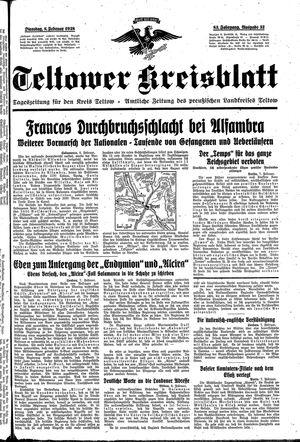 Teltower Kreisblatt vom 08.02.1938