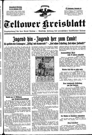Teltower Kreisblatt vom 12.02.1938