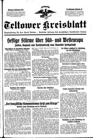 Teltower Kreisblatt on Feb 14, 1938