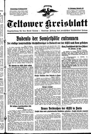 Teltower Kreisblatt vom 17.02.1938