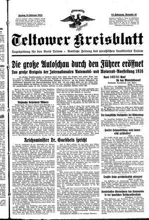 Teltower Kreisblatt vom 18.02.1938