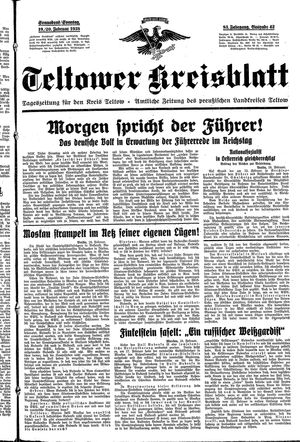 Teltower Kreisblatt vom 19.02.1938