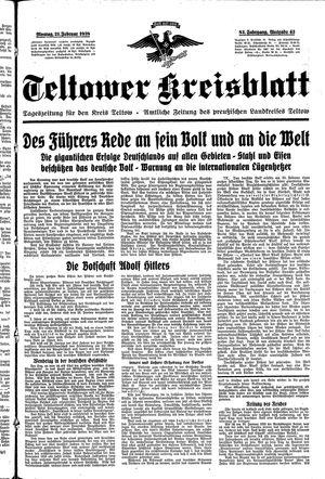 Teltower Kreisblatt on Feb 21, 1938