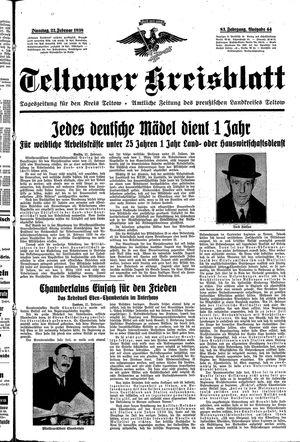 Teltower Kreisblatt vom 22.02.1938