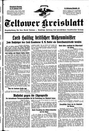 Teltower Kreisblatt vom 26.02.1938