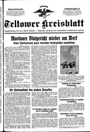 Teltower Kreisblatt vom 28.02.1938
