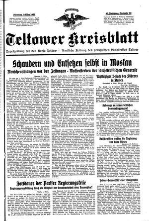 Teltower Kreisblatt vom 01.03.1938