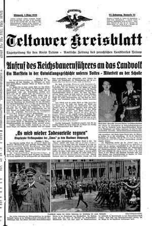 Teltower Kreisblatt vom 02.03.1938
