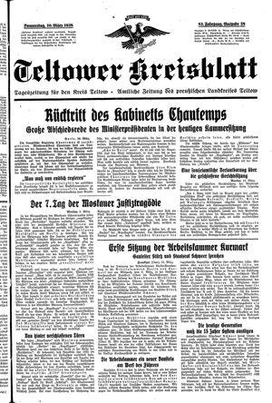 Teltower Kreisblatt on Mar 10, 1938