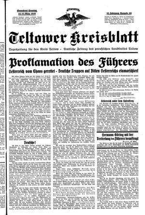 Teltower Kreisblatt on Mar 12, 1938