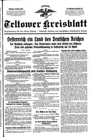 Teltower Kreisblatt vom 14.03.1938