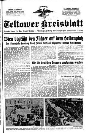 Teltower Kreisblatt vom 15.03.1938
