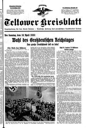 Teltower Kreisblatt vom 19.03.1938
