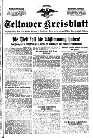Teltower Kreisblatt on Mar 23, 1938